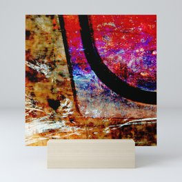Hyperbola (textured abstract) Mini Art Print