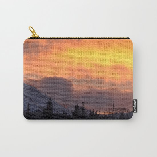 Sunrise Behind Chugach Mts ~ II Carry-All Pouch