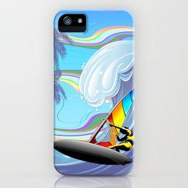 Windsurfer on Ocean Waves iPhone Case