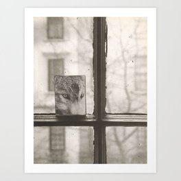 Wolf at the Window Art Print