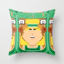 Basketball Green - Alleyoop Buzzerbeater - Hazel version Throw Pillow