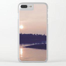Moonlit Love Clear iPhone Case