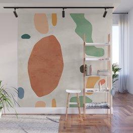 Organic Terracotta Thin Shapes  Wall Mural
