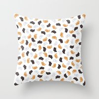 bunnies Throw Pillows featuring Bunnies! by Kashidoodles Creations