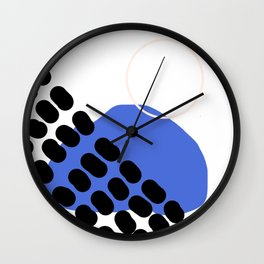 Abstract shapes- dark blue Wall Clock
