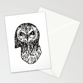 Staring Owl Stationery Cards
