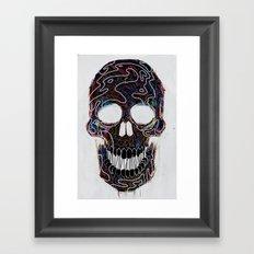 Chromatic Skull V.04 Framed Art Print
