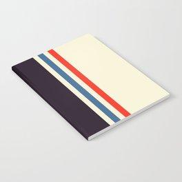 Classic Minimal Racing Car Retro Stripes - Furaribi Notebook