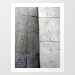Brutalist Grey Concrete Abstract Art Print