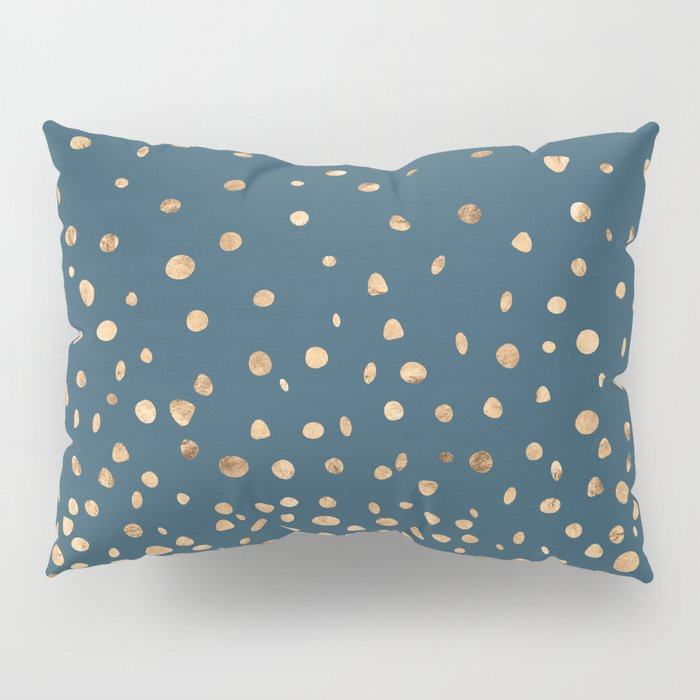Chic Gold and Teal Rising Confetti Pillow Sham