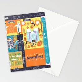 Tel Aviv Map - Montefiore Quarter Stationery Cards