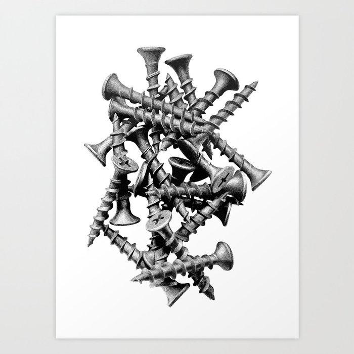 Screws Art Print