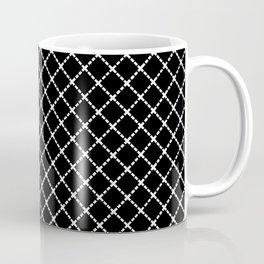 Dotted Grid 45 Black Coffee Mug