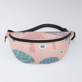 Dancing mushrooms in pink Fanny Pack