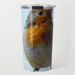 Fluffy Robin Redbreast Travel Mug