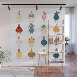 Cute Chicken Wall Mural
