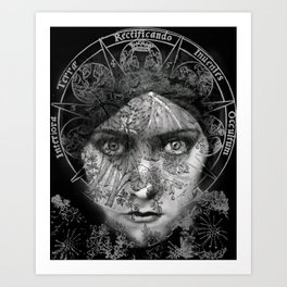 The Eyes of Alchemy Dark Art Print