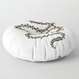 Serpent – Black & Gold Floor Pillow