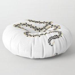 Serpent – Black & Gold Floor Pillow