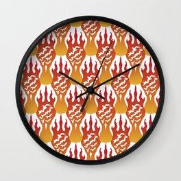 SCORCH pattern [WHITE] Wall Clock