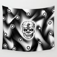bones Wall Tapestries featuring Bones  by Bwilly Bwightt