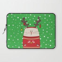 Cat Reindeer Laptop Sleeve