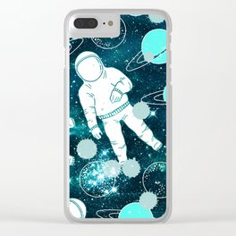 Space Astronaut Clear iPhone Case