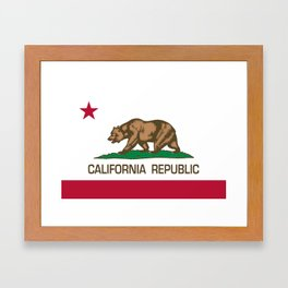 California Republic Flag - Bear Flag Framed Art Print