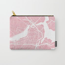 Boston, Massachusetts, City Map - Pink Carry-All Pouch
