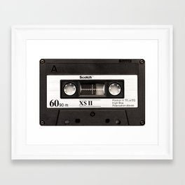 Cassette Tape Black And White #decor #homedecor #society6 Framed Art Print