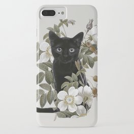 Cat With Flowers iPhone Case