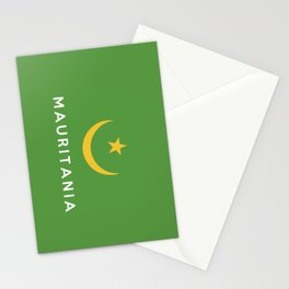 Mauritania country flag name text Stationery Cards