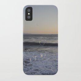 bubbles in sunset iPhone Case