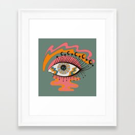 Cosmic Eye Retro 70s, 60s inspired psychedelic Framed Art Print