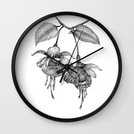 Trailing Fuchsia Wall Clock