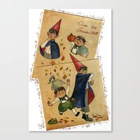 over the garden wall Canvas Prints featuring Over The Garden Wall by Dasha Borisenko