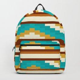 Brown Line Pattern Native Aztec Backpack