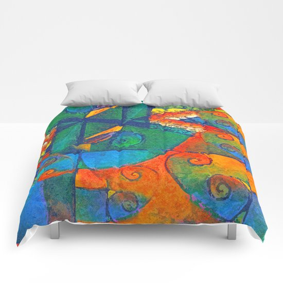 Broto de Samambaia (bracken fern) Comforters