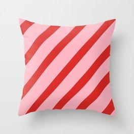 Reddy Stripes Throw Pillow