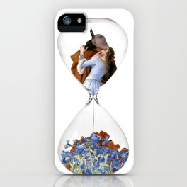 Hourglass of Love (Hayez) iPhone Case