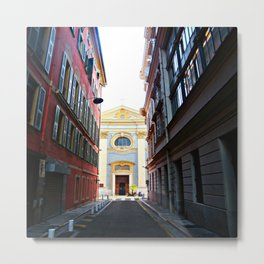 The Church At The End Of The Lane Metal Print