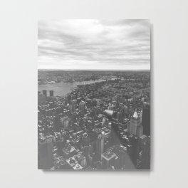 Manhattan Dark Metal Print