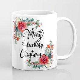 Merry Fucking Christmas Naughty Typography Coffee Mug
