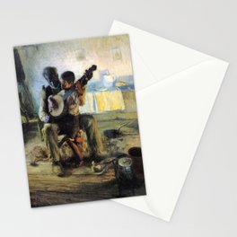 African American Masterpiece 'The Banjo Lesson' by Henry Ossawa Tanner Stationery Cards