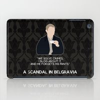 scandal iPad Cases featuring A Scandal in Belgravia - John Watson by MacGuffin Designs