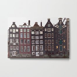 Traditional houses in Amsterdam Metal Print