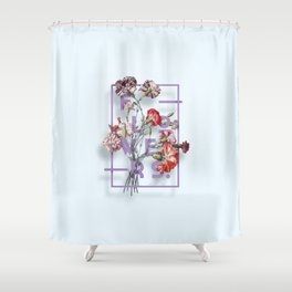 Flowers Bloom Botanicals Vintage Illustration Poster #3 Shower Curtain
