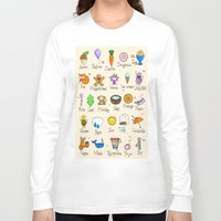 alphabet Long Sleeve T-shirts featuring Alphabet by Lara Lockwood