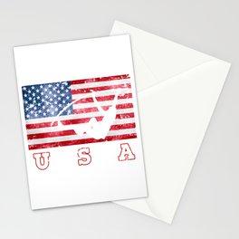 USA Pole Vault - Flag of America Stationery Cards