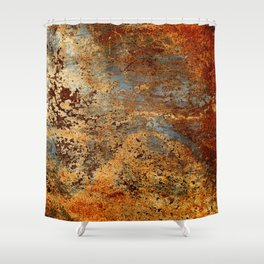 Beautiful Rust Shower Curtain